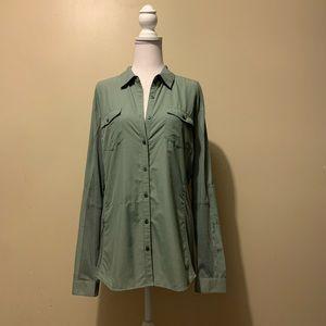 Kuhl Glydr Long Sleeve Shirt size Large Sage Green